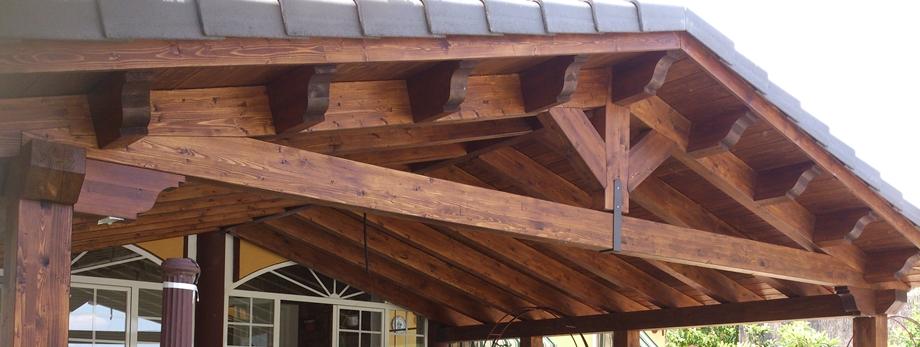 Tejados de madera cubiertas madrid for Tejados para pergolas